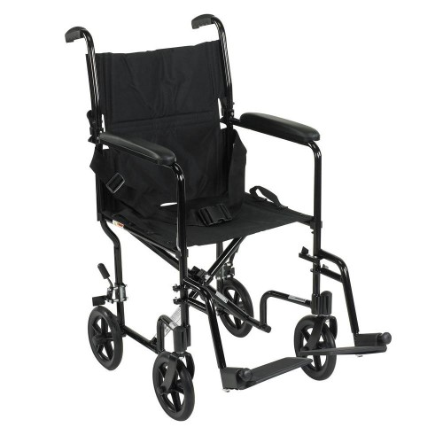 CHLOE ALUMINIUM TRAVEL WHEELCHAIR  - BLACK.WEIGHT 9KG